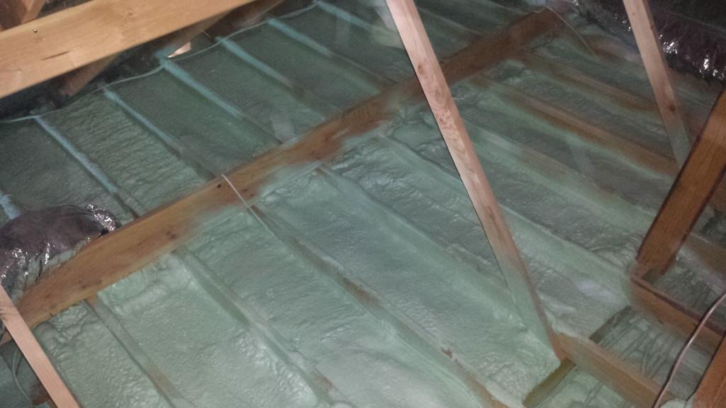 Attic air Sealing - Spray Foam Rental